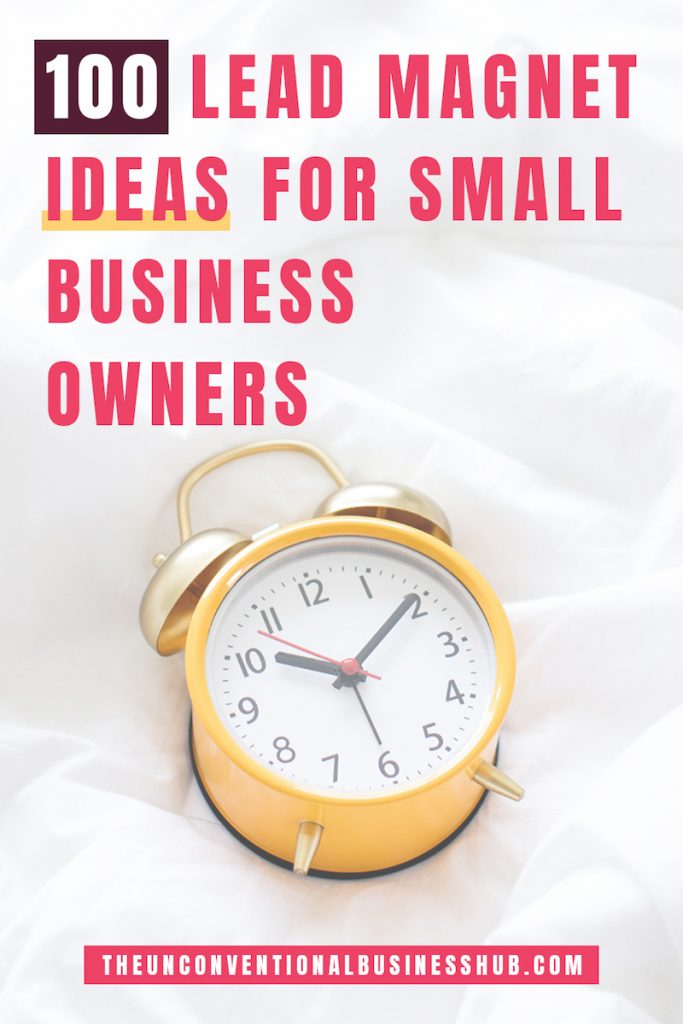 Lead Magnet Ideas For Small Business Ownersthe Unconventional Business Hub
